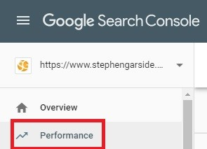 get traffic analytics on google image search in search console