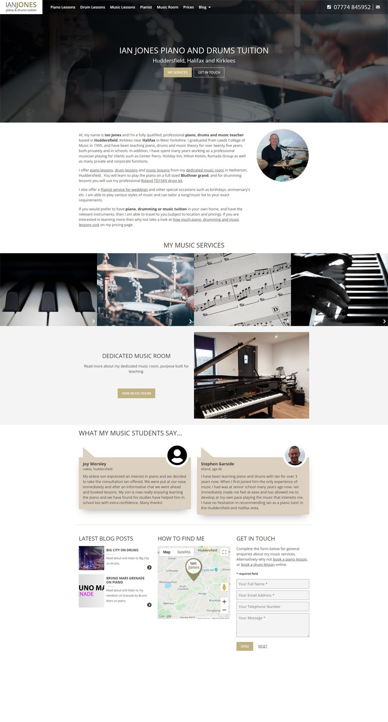 Pianoteacherhuddersfield Website Home Page